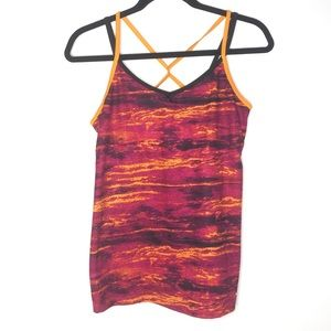 Champion Fitted Athletic Tank Top Criss Cross Back